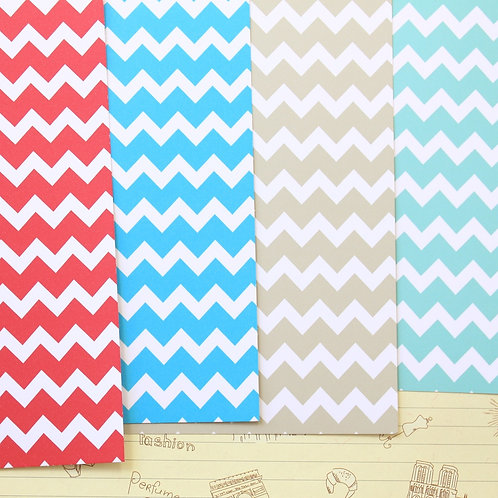 set 04 chunky chevrons mix printed card stock