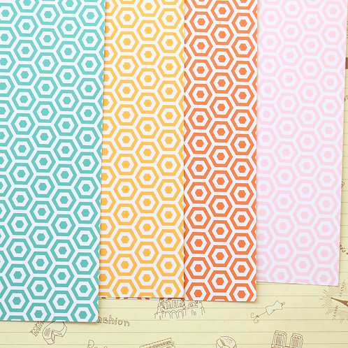 set 03 honeycomb mix printed card stock