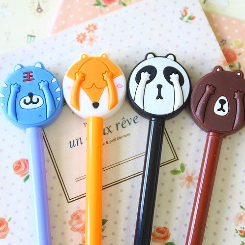 peek-a-boo animals cartoon pens