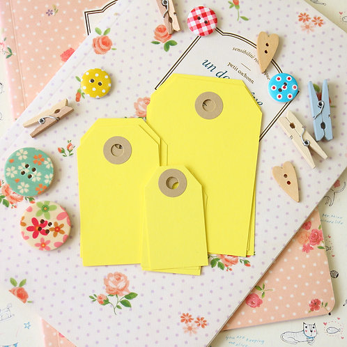daffodil yellow papermill series luggage gift tags
