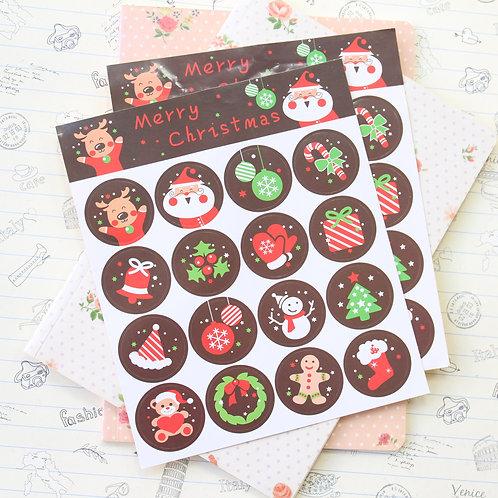 christmas cartoon sticker seals