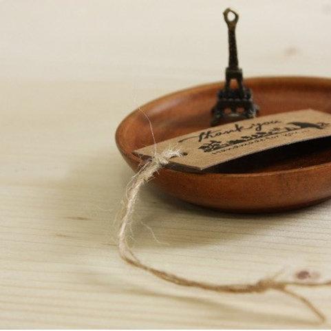 natural twine pre-cut 100pc hang tag string