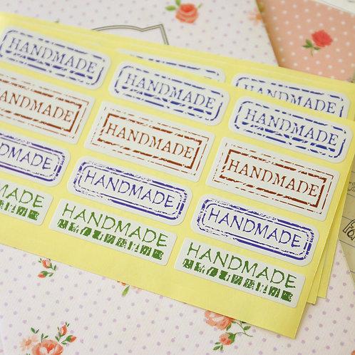 vintage handmade printed sticker seal labels
