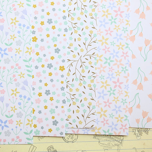 pastel floral patterns printed card stock
