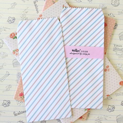 diagonal stripe natural pattern tall envelopes