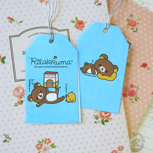 hotcake rilakkuma bear cartoon gift tag card