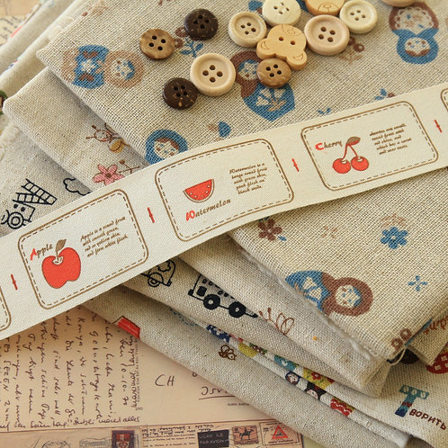 fruits cartoon cotton sewing tape ribbon