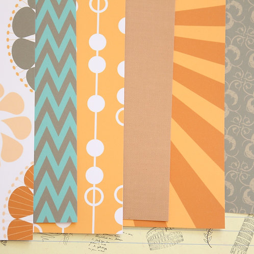 set 01 sixties mix patterns printed card stock