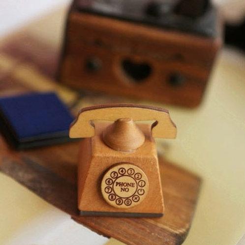mercerie de france telephone rubber stamp