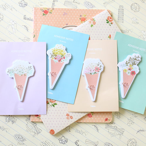 cute flowers cartoon floral shapes sticky notes