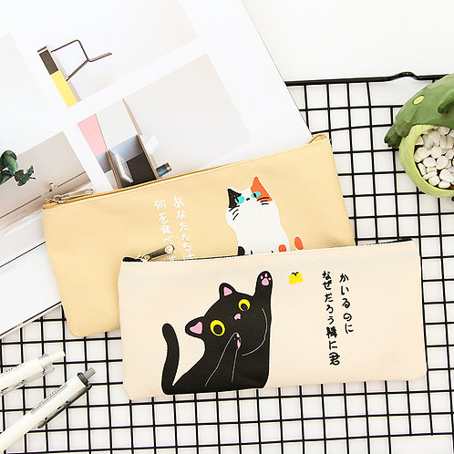 creative cat cartoon pen bag
