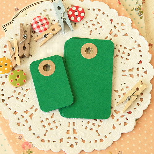 dark green rounded rectangle tags