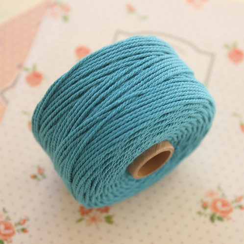 teal blue twisted cotton bakers twine 80m