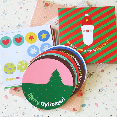 merry christmas cartoon greeting cards