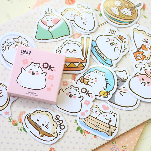 ok dumpling candy poetry cartoon cute shapes stickers
