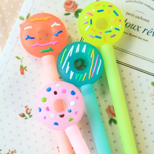 cute donut cartoon pens