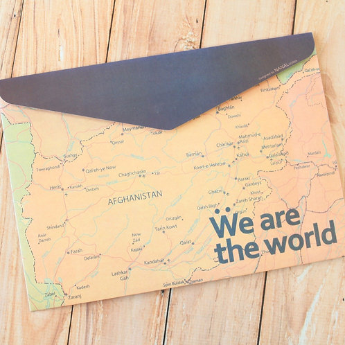 we are the world envelope file bag