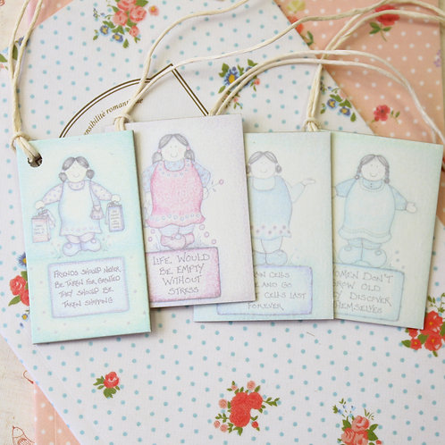 girls east of india printed gift tags
