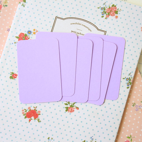 lilac lavender papermill colour blank business cards
