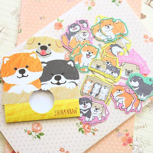 03 shibanban dog cartoon sticker flakes