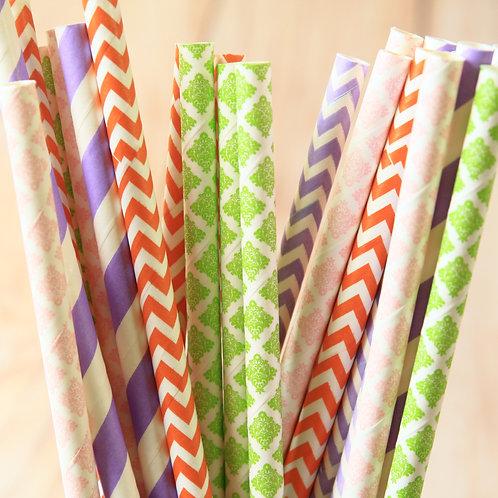 wedding bouquet mix paper straws