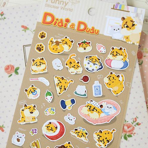 funny stickerworld didi & dudu cartoon stickers