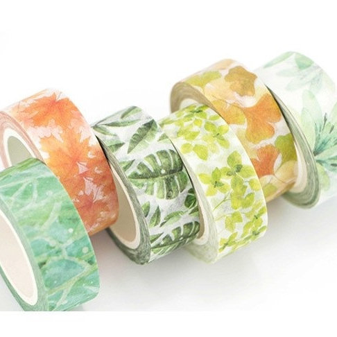 infeel me spring leaves deco washi tape