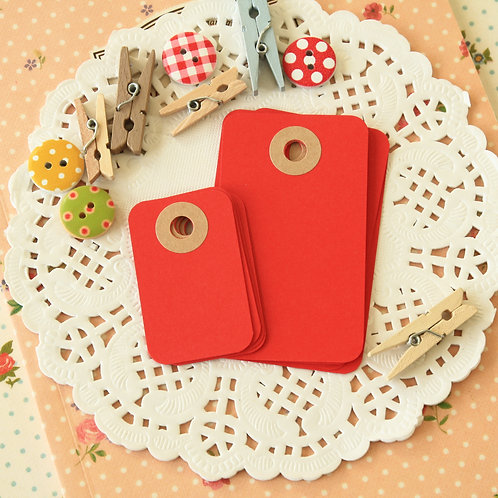apple red rounded rectangle tags