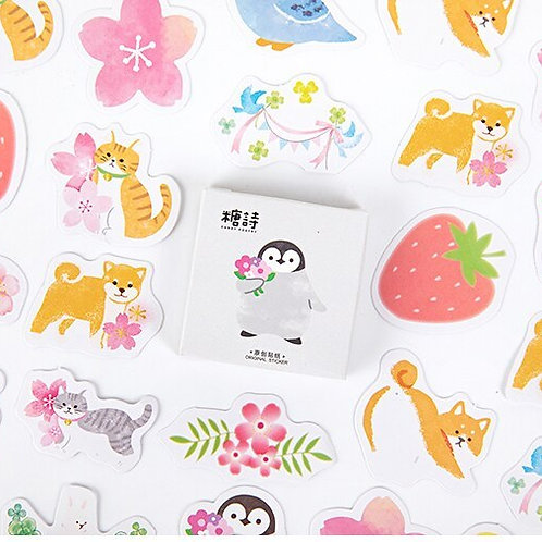 garden of pet candy poetry cartoon cute shapes stickers