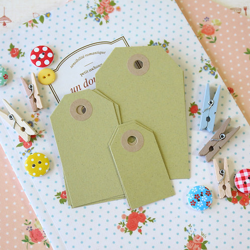 olive crush green luggage tags