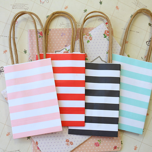 stripe small paper gift bags
