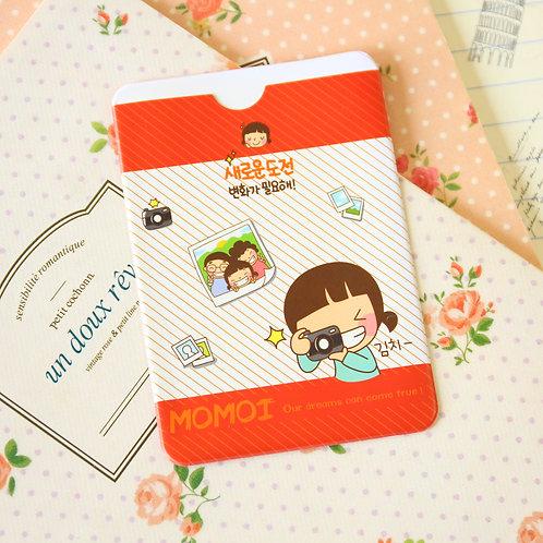 camera momoi girl cartoon card holder