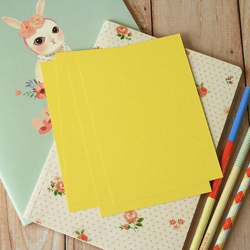 lemon yellow eco postcard blanks