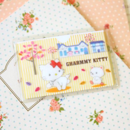 kitty cartoon card pocket holder
