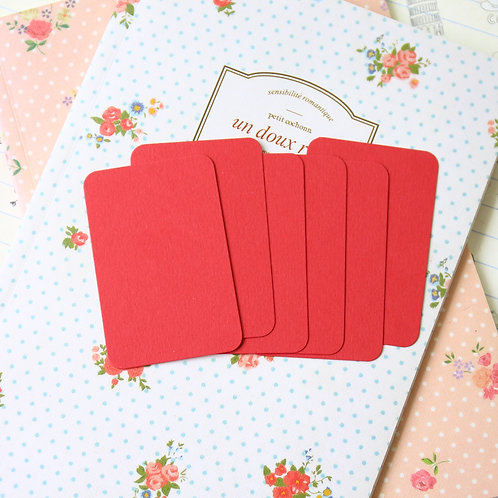 christmas red papermill colour blank business cards