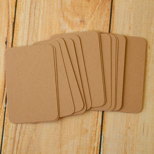 almond crush earth tones blank business cards