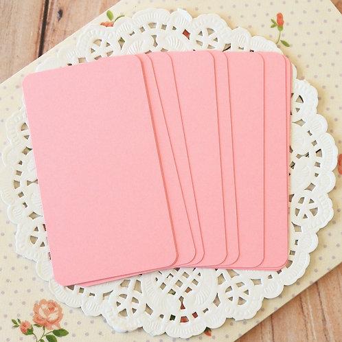 bubblegum pink blank business cards