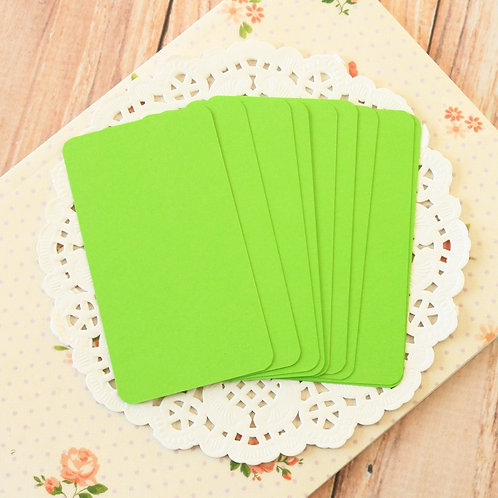 chartreuse green blank business cards