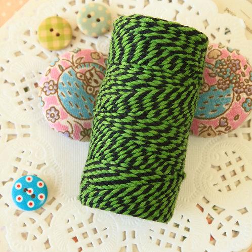 black & emerald green two tone everlasto bakers twine 20m