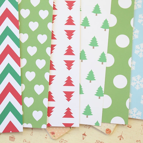 set 08 christmas patterns printed card stock