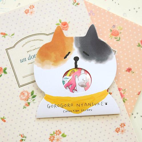 02 gorogoro cat cartoon sticker flakes