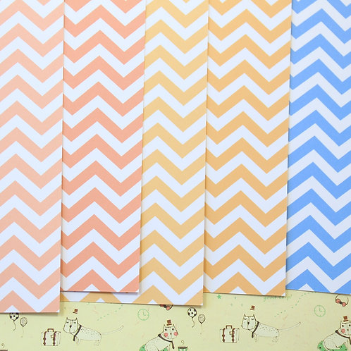 set 02 chevron art mix printed card stock