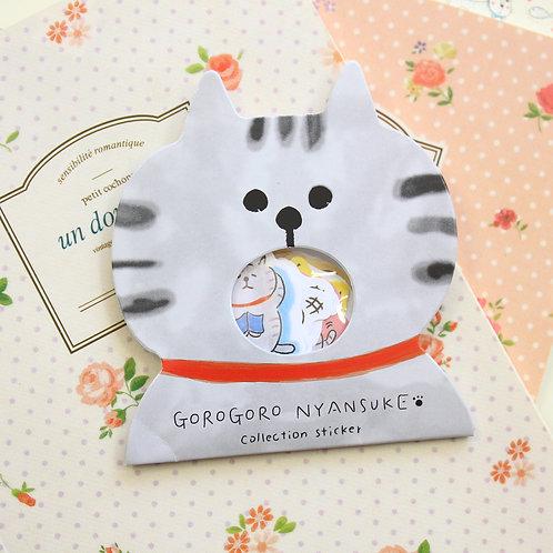 04 gorogoro cat cartoon sticker flakes