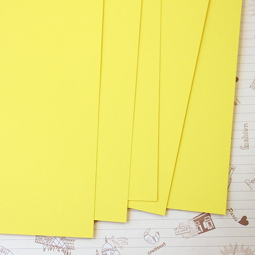 daffodil yellow papermill series card stock