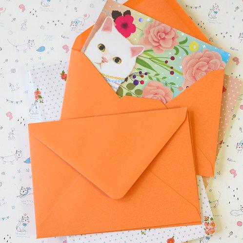 apricot orange vintage series c6 banker envelopes