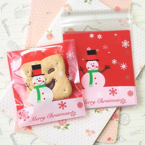 big snowman christmas cartoon plastic bags