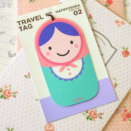 matryoshka travel name luggage tag