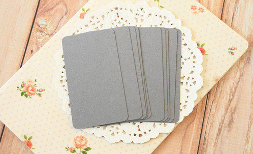 Dark grey blank business cards 50pc round corner business card blanks made from 100 british made acid free card stock has a smooth and uncoated surface ideal for rubberstamping or colourmoves