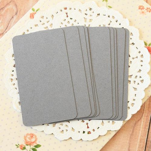 dark grey blank business cards