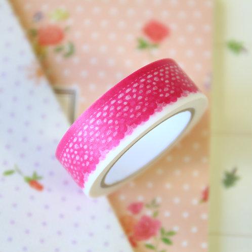 red scallop washi tape